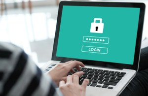 Securing a computer against cyber threats with a password
