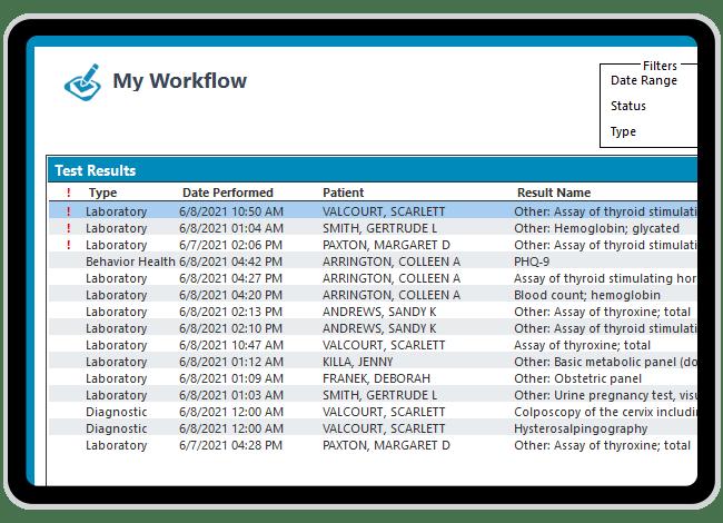 OB/GYN lab results