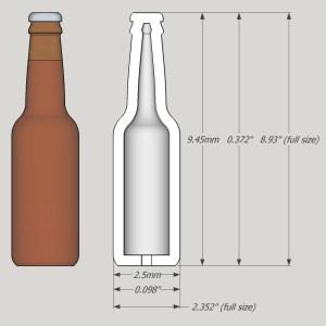 1:24 Beer/Soda Bottles - Ver2