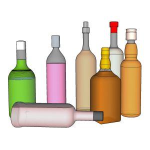 O scale Liquor Bottles