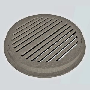 HO Slotted Drain/Manhole Cover with Ring