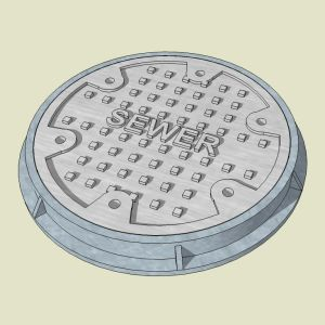 O Sewer/Manhole Cover and Ring