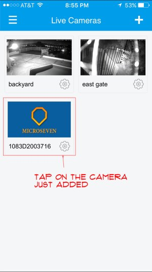 tap on the camera to play live streaming video ...