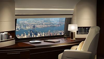 Boeing BBJ panoramic window 2