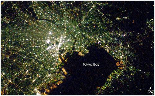 La bahia de Tokyo vista desde la ISS