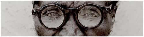 Zulú llevando unas gafas adaptables