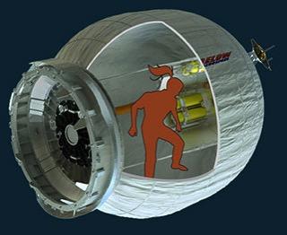 BEAM con una astronauta dentro