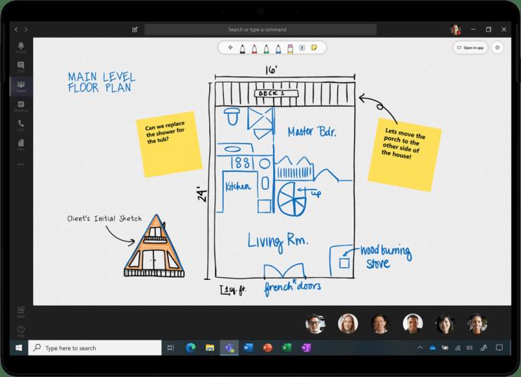 An image of Microsoft Whiteboard updates.