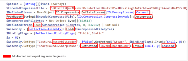 Code snippet of SharpHound ingestor showing featurized details