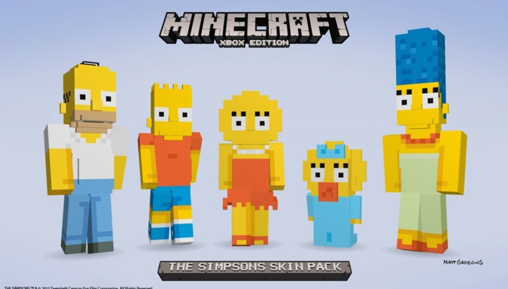 Los Simpson en Minecraft