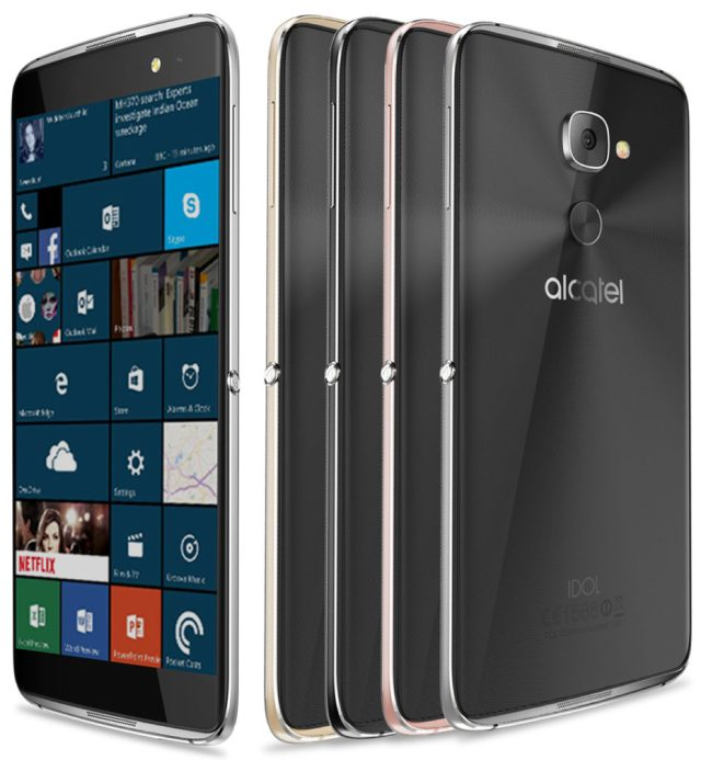 alcatel idol 4s con w10m