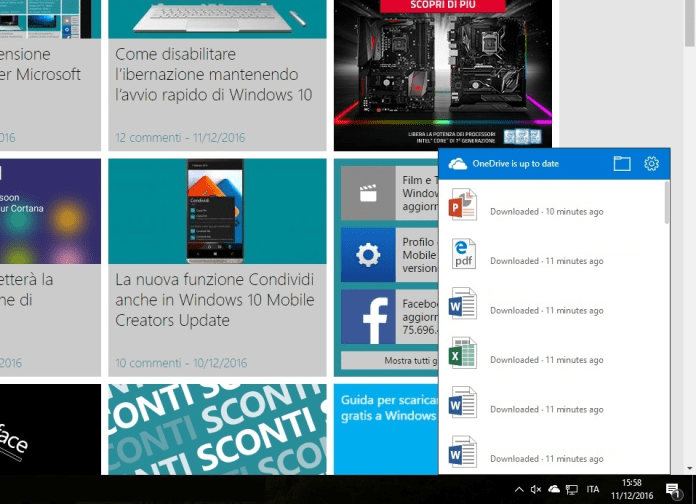 Cliente integrado en la Build 14986