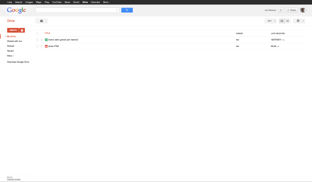 Google's Drive Desktop Interface