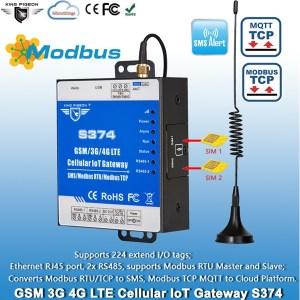 Cellular Modbus MQTT IoT Gateway S374