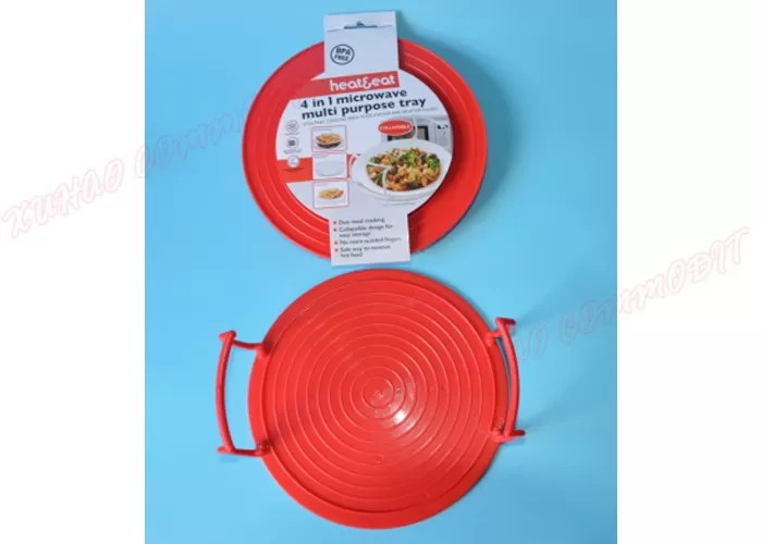 plate stacker lid tray microwave safe plastic dishes multi tasking kitchen 3 in1 dishes