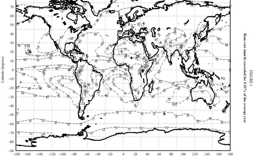 Microwave Rain Fade Planning ITU-R P.837-6