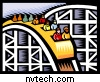 Roller coaster drawing