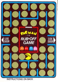 Pac Man scratch-off game card