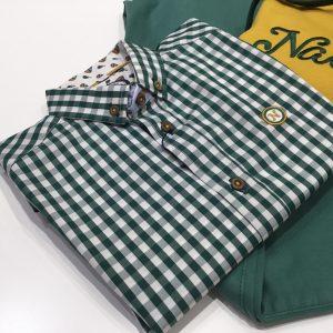 camisa cuadros vichy verdes