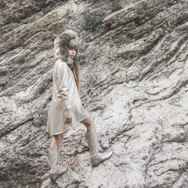vestido asimetrico zircon de bella bimba