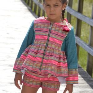 Conjunto Renata dchaqueta renata de Noma Fernandeze short y bluson de Noma Fernandez
