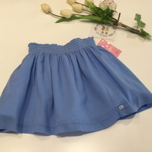 falda azul bambula eva castro