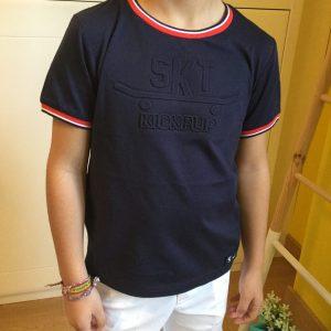 camiseta azul de sarabanda