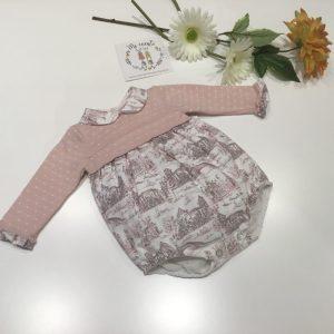 pelele bebe en rosa