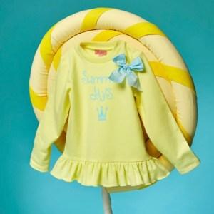 sudadera amarilla niña eva castro