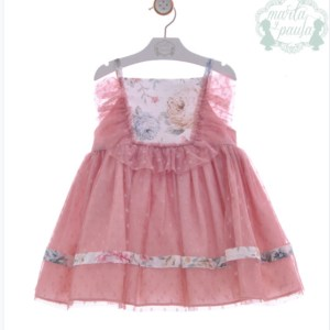 vestido rosa la rayuela