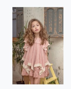 vestido infantil familia muñeca