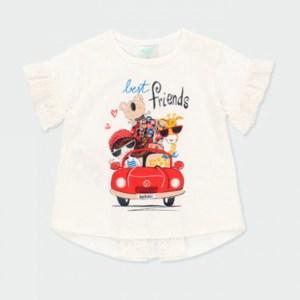 camiseta niña coche