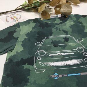 camiseta verde coche