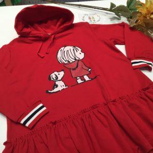 vestido perro algodon rojo de mon petit