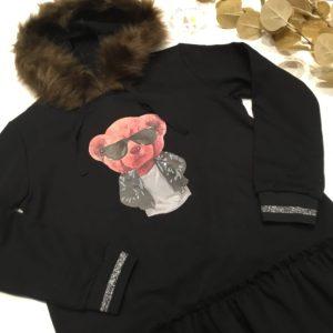 vestido sudadera algodon oso de mon peti