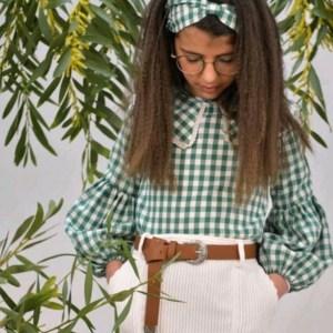 camisa cuadros vichy verde de noma fernandez