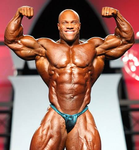 Phil Heath Posing at a competition