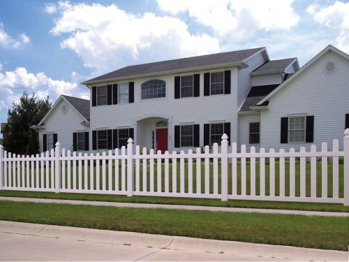 white picket fence house