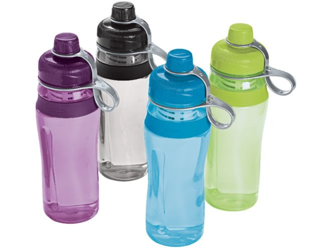 4 plastic water bottles