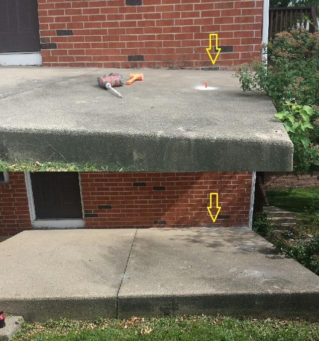 davenport concrete patio repair