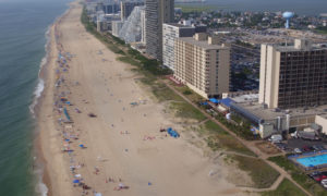 Aerial View Panoramic Ocean City