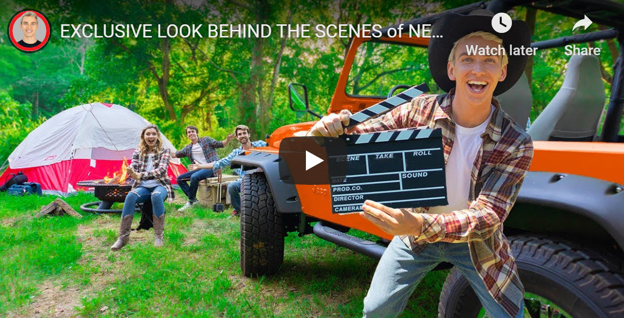 Stephen Sharer BTS - In My Jeep!