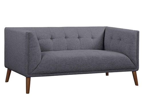 Armen Living Hudson Loveseat - Gray