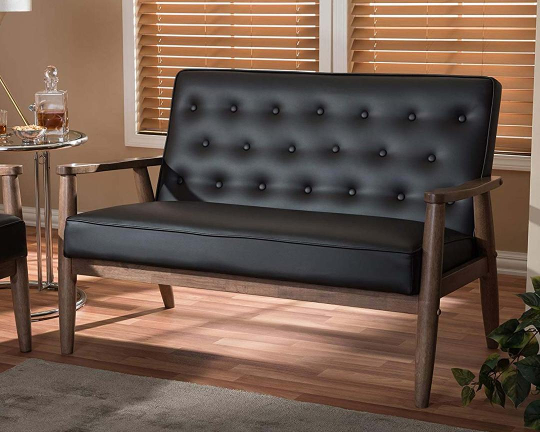 Baxton Studio Sorrento Bench Vinyl - Featured