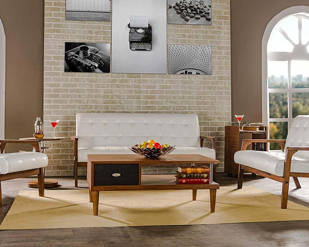 Baxton Studio Loveseat Mid-Century - Featured