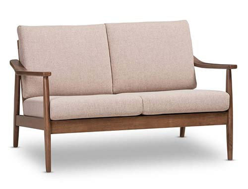 Baxton Studio Venza Mid-Century Bench - Light Brown