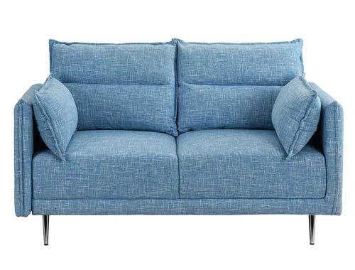 Casa Andrea Milano - Two-seat Sofa Midcentury - Light Blue