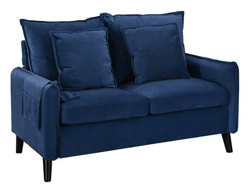 Casa Andrea Milano - Two Seat Loveseat - Navy Blue