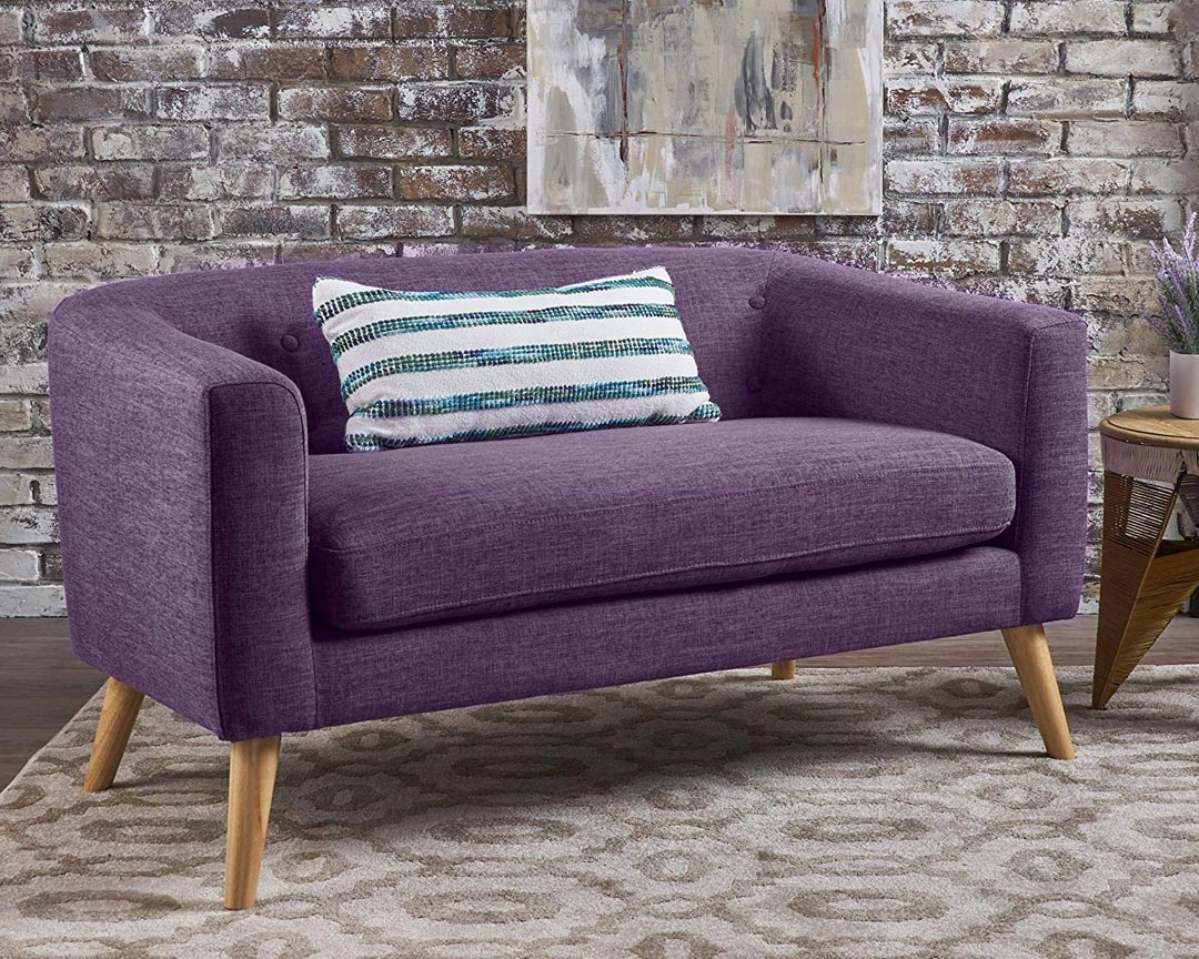 Christopher Knight Home Bridie Midcentury Loveseat - Featured