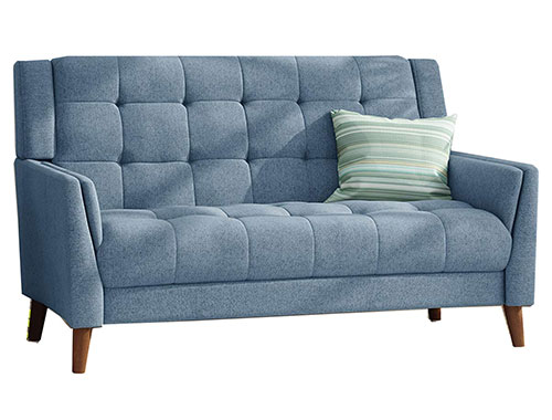 Christopher Knight Home Evelyn Loveseat Mid-Century - Blue